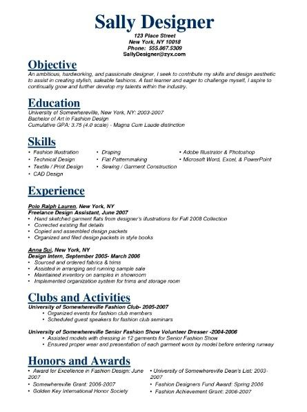 experience running a store on resume example