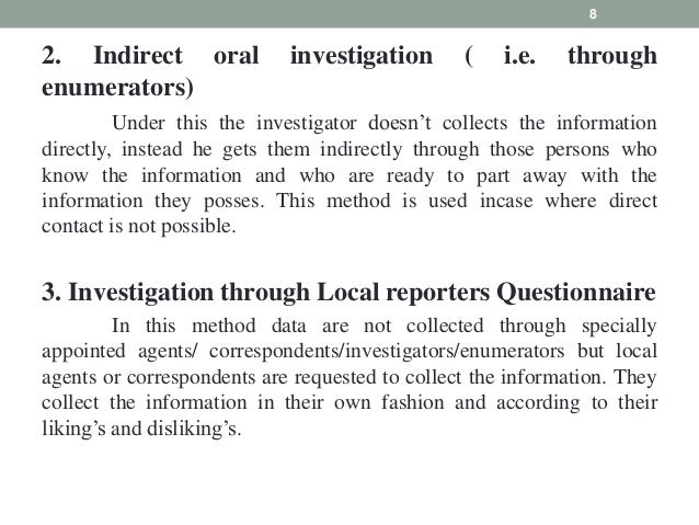 example of interview method of data collection
