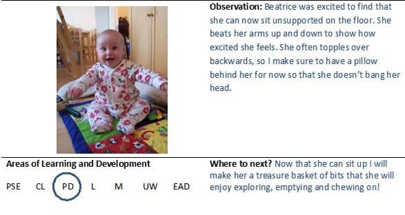anecdotal observation example early childhood