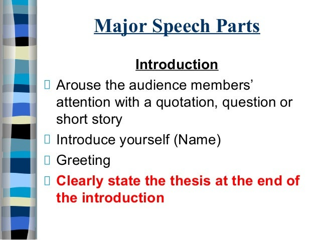 example attention getter for presentation with introduction