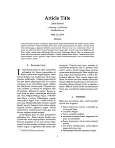 critical review of an academic article example