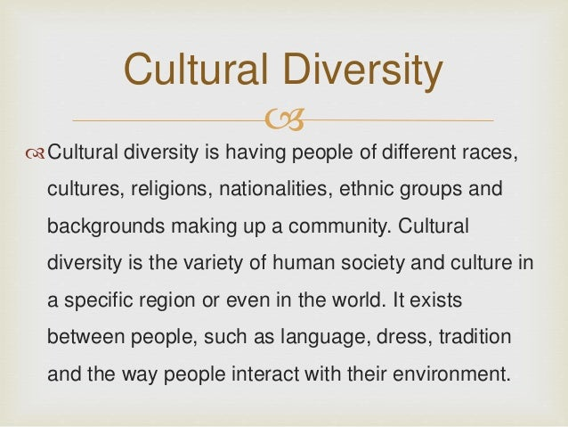 ethnicity and cultural background example