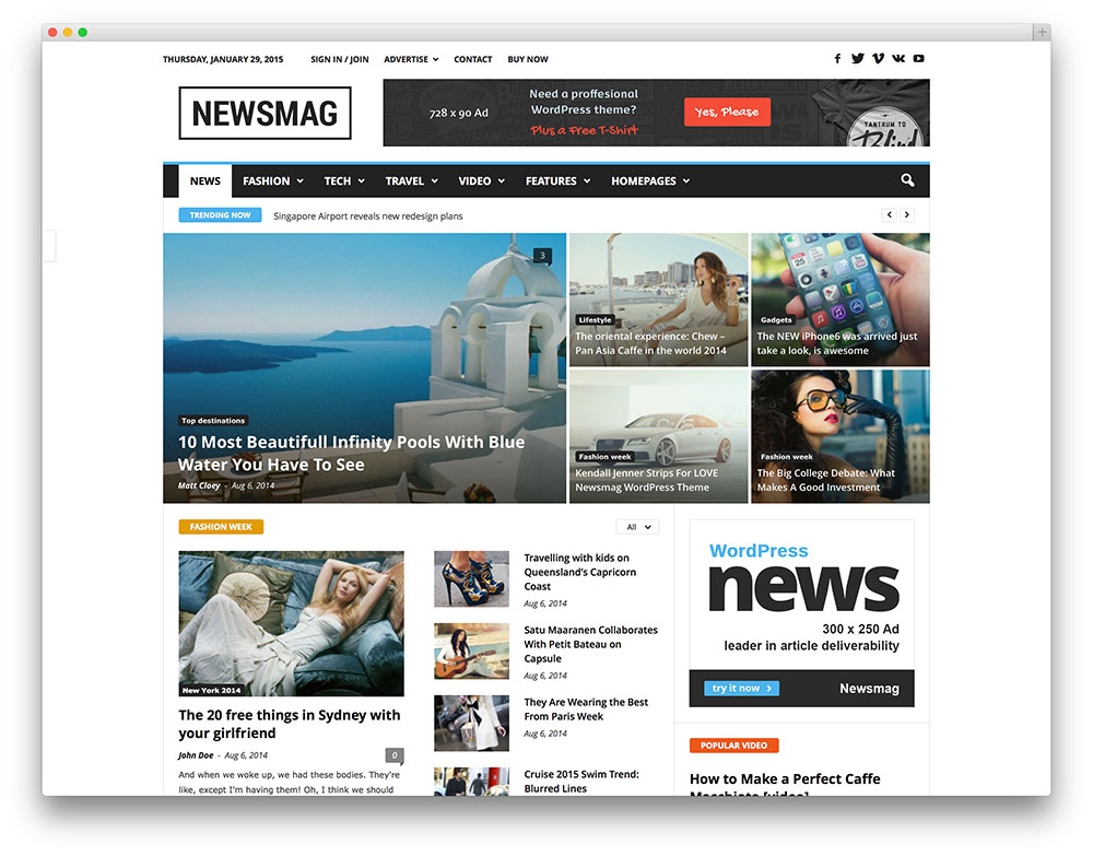 an example of fast travelling news