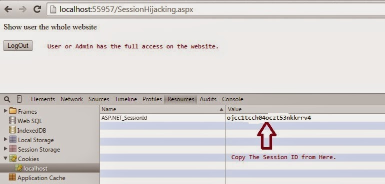 session hijacking attack example in asp net