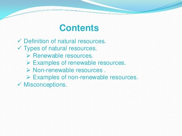 renewable and non reneable example