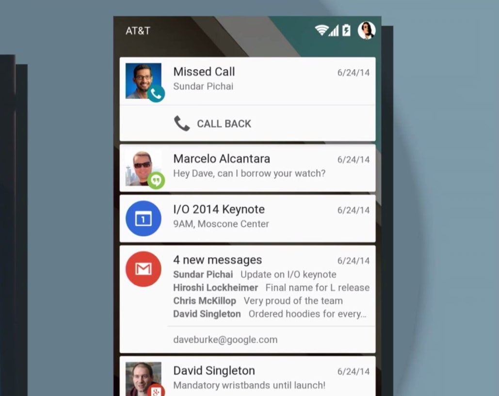 android lock screen notifications example