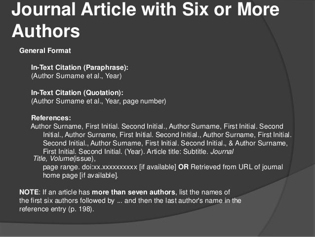 apa format journal article example