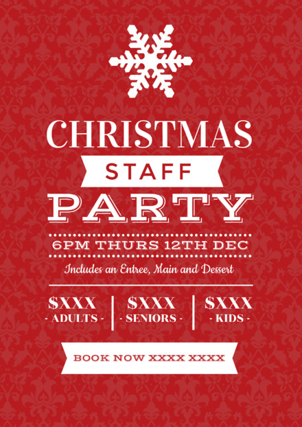 staffing budget example for christmas party