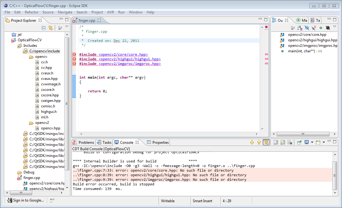 c++ header and cpp file example with comments