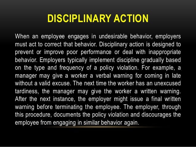 example have successfully resolved an employee relations issue