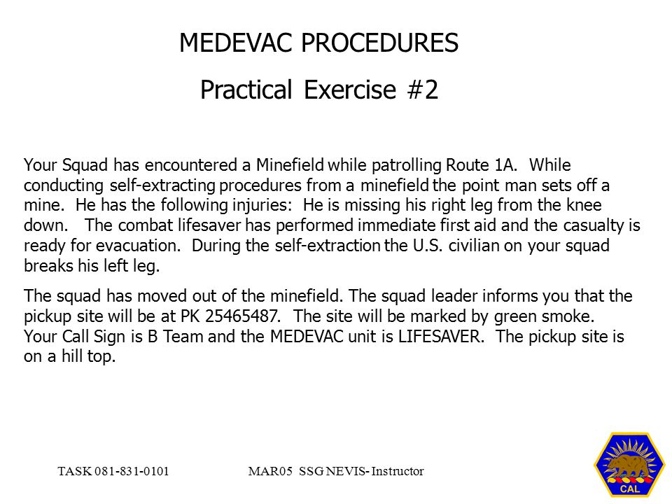 9 line medevac example and answers