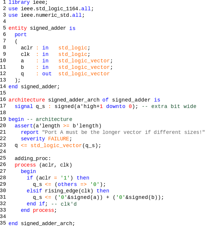 vhdl nested case statement example