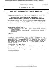 example amended claim in magistrates court sa