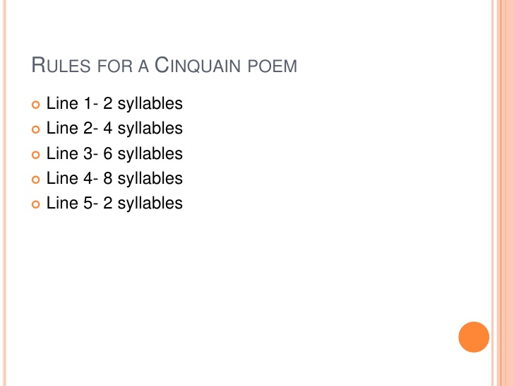 example of cinquain poem about love