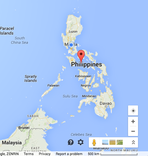 example of physical map of the philippines