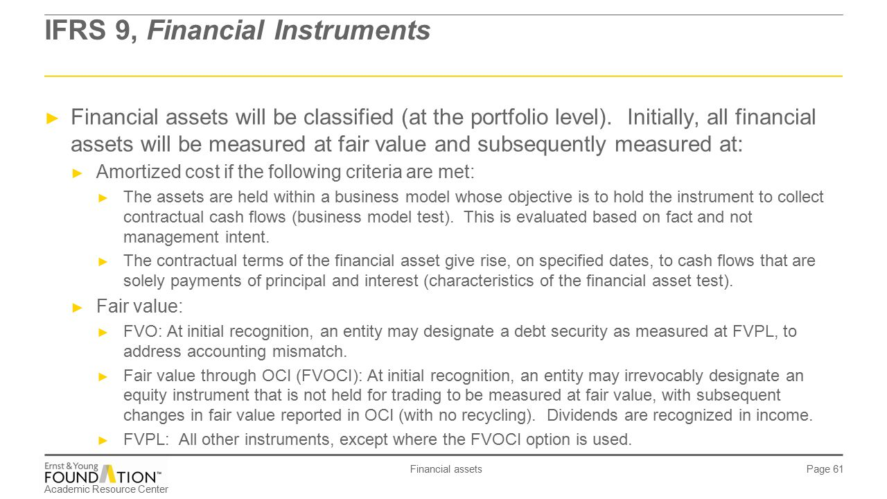 fair value of financial instruments example