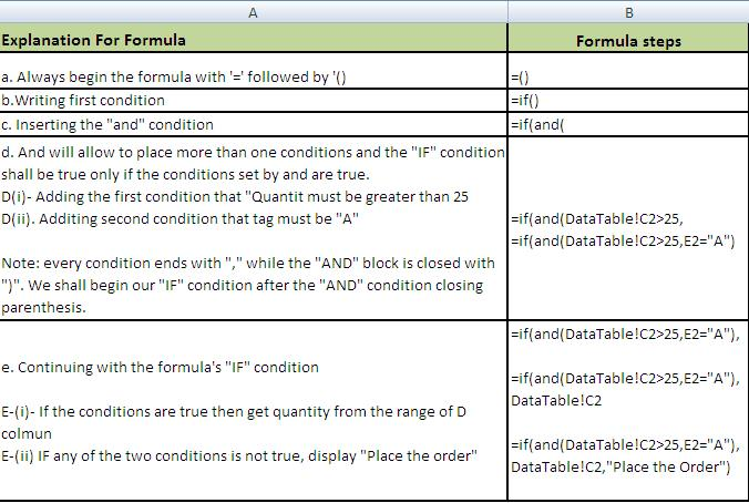 nested if function excel 2010 example