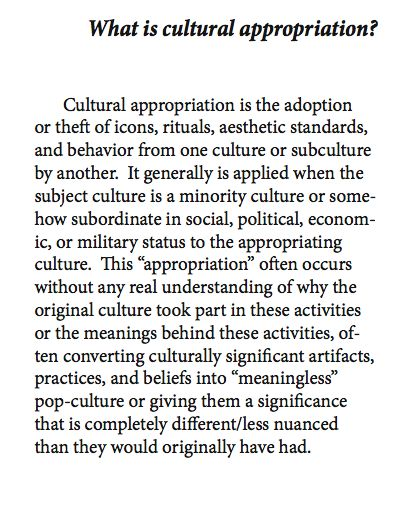 what is an example of cultural appropriation